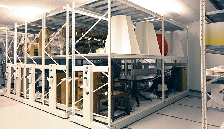high density museum storage systems