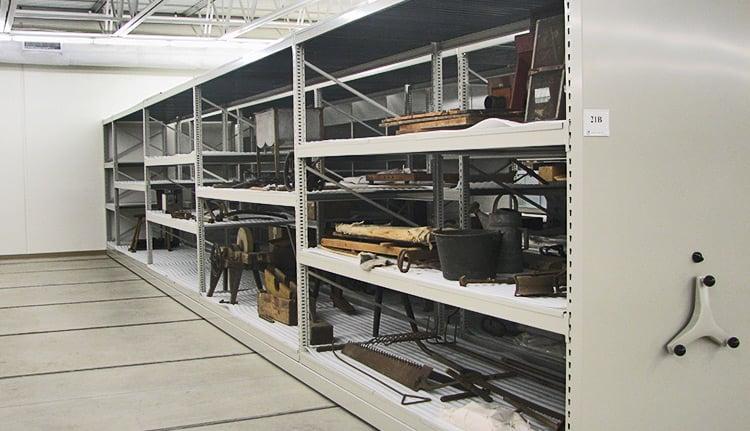 museum storage shelving units image