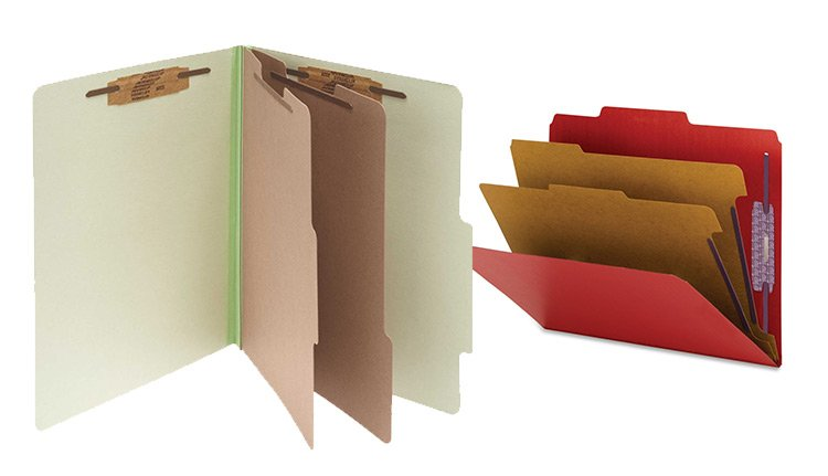 Colored Pressboard Folders | ISDA