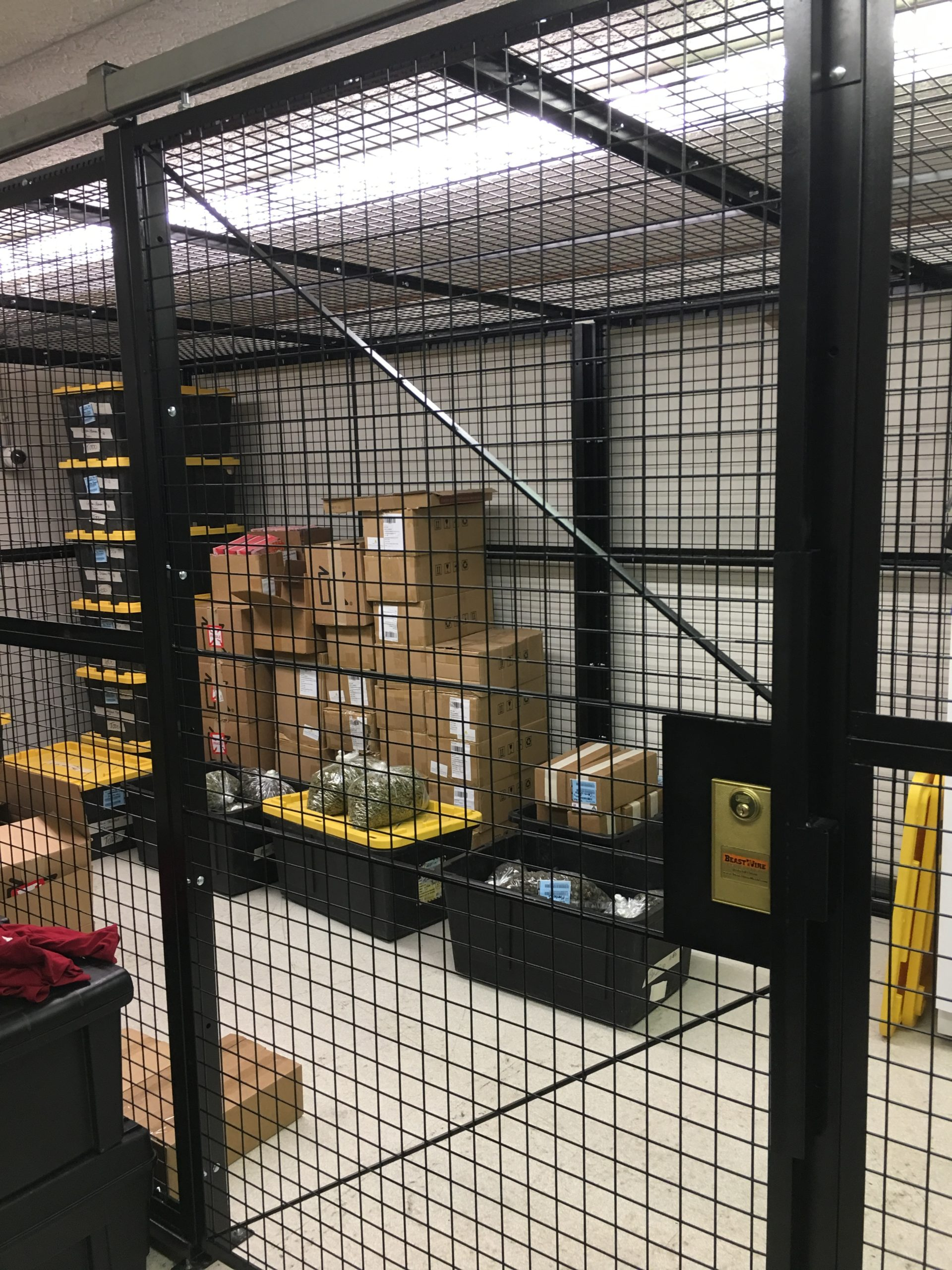 cage for cannabis ISDA Storage