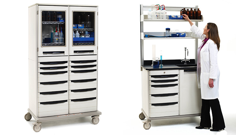 Mobile Medical Work Centers Shelves
