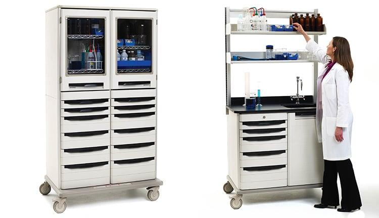 Mobile Medical Work Centers Shelves