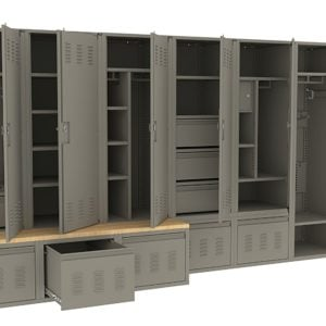 metal lockers with drawers ISDA Storage