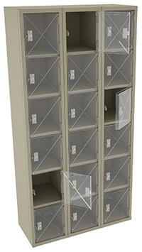 see through employee lockers