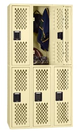 low cost ventilated lockers
