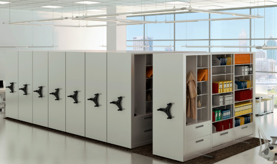 rotary files with mobile shelving ISDA Network for Storage